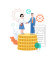 woman man shaking hands partnership sign vector image vector image