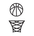 basketball rim icon on white background vector image