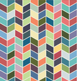 Seamless geometric chevron color textile pattern vector image