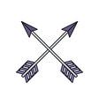 arch bow arrow vector image