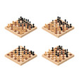 chess set isometric view vector image