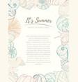summer paradise holiday marine card vector image