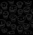 black on black skulls pattern vector image