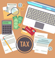 tax payment savings calculation income vector image