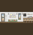 a modern coffee shop panorama vector image