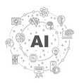 ai and iot infographic banner neural network vector image