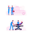 ambulance medical staff service occupation medics vector image