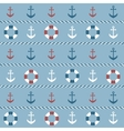 background with anchors and lifebuoys vector image vector image