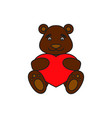 bear with heart icon vector image