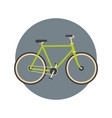 bicycle icon active tourism travel concept vector image vector image