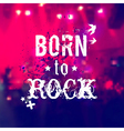 blurred background with rock stage and crowd vector image vector image