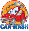 car wash symbol cartoon isolated on white vector image vector image