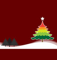 christmas background with christmas tree colorful vector image