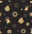 christmas ball bell snowflake seamless pattern vector image vector image