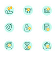 credit score financial icons linear set vector image