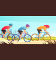 cycle competitive racing cartoon vector image vector image