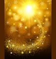 effect flying particles luster dust luxury vector image