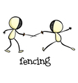 Fencing activity vector image vector image