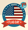 flag day united states flat design card vector image vector image