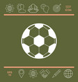 Football symbol soccer ball icon