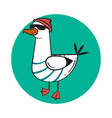 funny cartoon seagull steep thug life vector image vector image