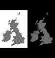 great britain and ireland map hexagon scheme vector image vector image