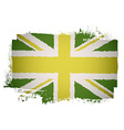 Green british flag vector image vector image