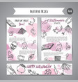 hand drawn halloween brochure template horror vector image vector image
