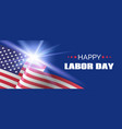 happy labor day banner long banner for vector image
