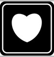 heart icon love symbol valentine s day sign vector image vector image