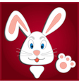 Hiding Easter Bunny card vector image vector image
