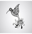 Hummingbird tattoo style vector image vector image