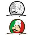 italian people colored mascot logo premium vector image vector image