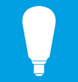 light bulb icon white vector image