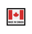 made in canada isolated label for products vector image vector image