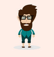 man with beard and glasses vector image