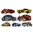 muscle cars and vintage transports for logo vector image vector image