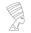 Nefertiti icon outline style vector image vector image