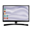 new monitor front and black drawing eps10 vector image vector image