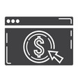 online banking glyph icon business and finance vector image vector image