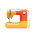 orange modern electronic sewing machine vector image vector image
