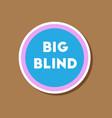 paper sticker on stylish background poker big vector image vector image