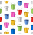 realistic detailed 3d color buckets seamless vector image vector image