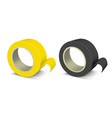 Realistic template blank color adhesive roll tape