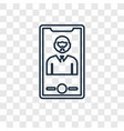 selfie concept linear icon isolated on vector image