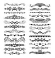 set 25 doodle sketch drawing divider wedding vector image vector image