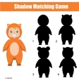 Shadow matching game Christmas theme kids vector image vector image