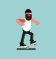 skater doing manual vector image