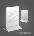 stand for advertising paper vector image