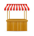 street food stall vector image vector image